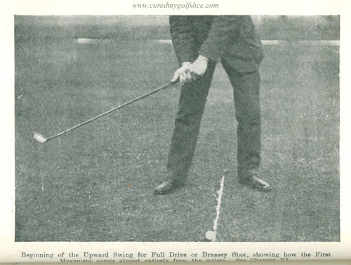 The first movement must come from the wrists and it is the left one which makes the initiative by James Braid c1912