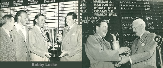Bobby Locke Winner of The Goodall Round Robin 1947 and Winner of The British Open 1952