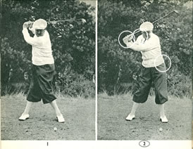 Drag with the left hand at the beginning of the downswing