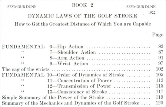 Dynamic Laws Of The Golf Stroke Golf Fundamentals By Seymour Dunn 1922