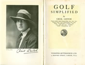 Golf Simplified By Cecil Leitch 1924