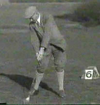 Harry Vardon At Impact