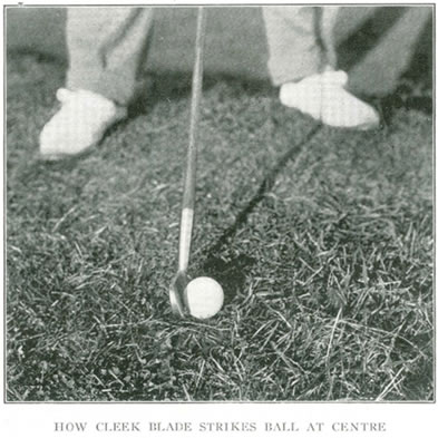 How Cleek Blade Strikes Ball At Centre Lessons In Golf By Alex Smith 1907