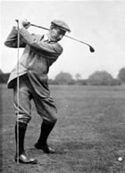 Harry Vardon Top of Swing Left Arm Almost Straight