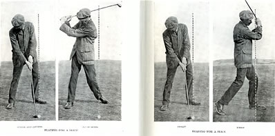 Playing For A Slice Stance and Up-Swing By James Braid 1909