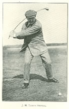 J. H. Taylor the reigning open champion driving 1911