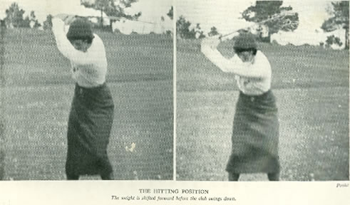 The Hitting Position By Joyce Wethered 1933