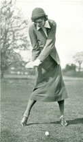 Joyce Wethered Hitting The Ball 1933