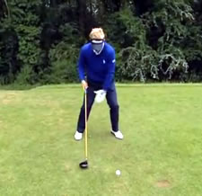Luke Donald About Knees At Impact