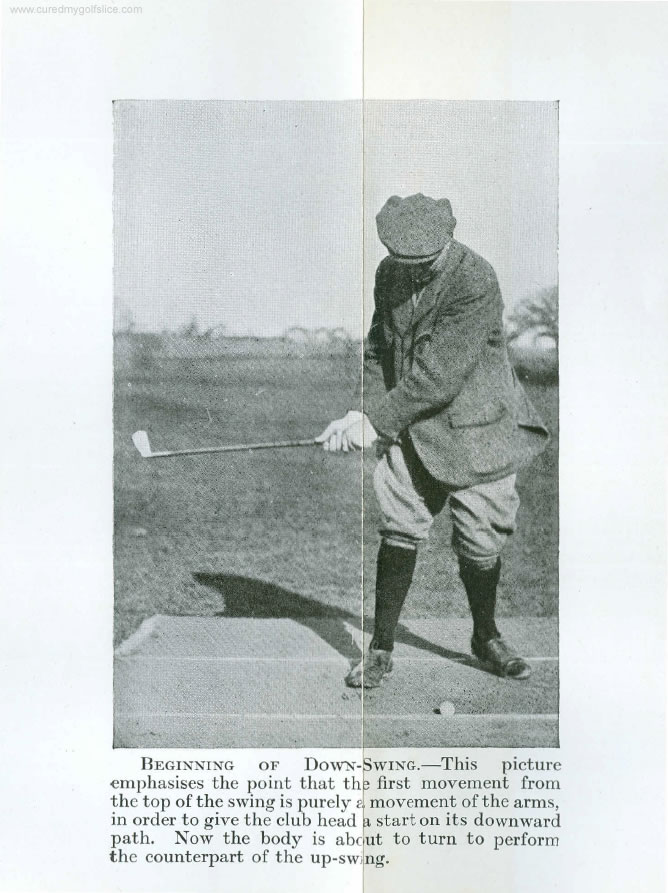 Cure A Golf Slice - Shoulders Arms - Early Part of The