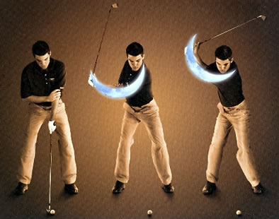 The Moon Crescent Exercise For The Flexible Left Arm in The Backswing by Nick Bradley