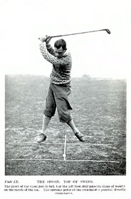 Percy Alliss Top of The Swing Left Foot Takes Its SHare of Weight 1926