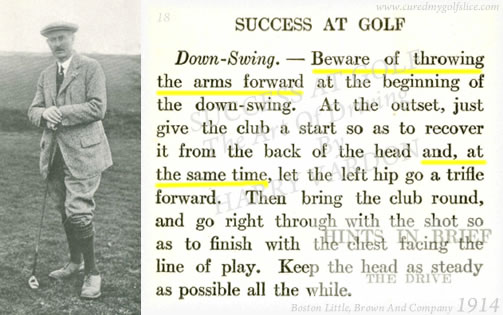 Success At Golf The Art Of Driving By Harry Vardon 1914 Down-Swing