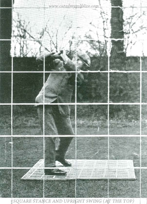 Square Stance And Upright Swing (At The Top) J.H. Taylor