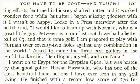 The three best golfers in the world by Bobby Locke