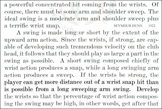 Wrist action produces a snap Seymour Dunn